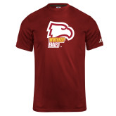 Russell Core Performance Cardinal Tee-Winthrop Eagles w/ Eagle Head