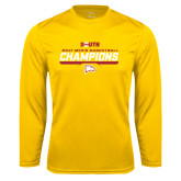 Performance Gold Longsleeve Shirt-2017 Mens Basketball Champions Repeating