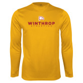 Performance Gold Longsleeve Shirt-Winthrop Athletics
