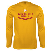 Performance Gold Longsleeve Shirt-Baseball Plate