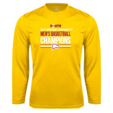 Performance Gold Longsleeve Shirt-2017 Mens Basketball Champions Stacked