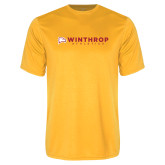 Performance Gold Tee-Winthrop Athletics Flat