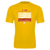 Performance Gold Tee-2017 Mens Basketball Champions Repeating