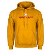 Gold Fleece Hoodie-Winthrop Athletics