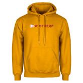 Gold Fleece Hoodie-Winthrop Athletics Flat