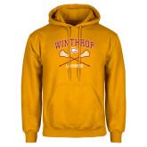 Gold Fleece Hoodie-Lacrosse Crossed Sticks