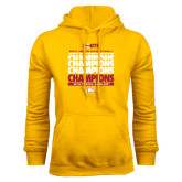 Gold Fleece Hoodie-2017 Mens Basketball Champions Repeating
