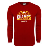 Cardinal Long Sleeve T Shirt-2017 Mens Basketball Champions Basketball