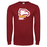 Cardinal Long Sleeve T Shirt-Winthrop Eagles w/ Eagle Head