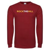 Cardinal Long Sleeve T Shirt-Rock The Hill