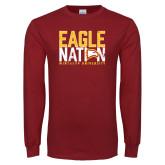 Cardinal Long Sleeve T Shirt-Eagle Nation