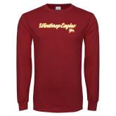 Cardinal Long Sleeve T Shirt-Scripted
