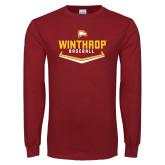 Cardinal Long Sleeve T Shirt-Baseball Plate