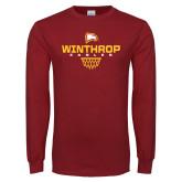 Cardinal Long Sleeve T Shirt-Sharp Net Basketball