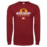 Cardinal Long Sleeve T Shirt-Soccer Half Ball