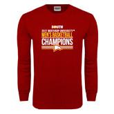 Cardinal Long Sleeve T Shirt-2017 Mens Basketball Champions Stacked