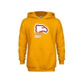 Youth Gold Fleece Hoodie-Winthrop Eagles w/ Eagle Head