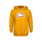 Youth Gold Fleece Hoodie-Eagle Head