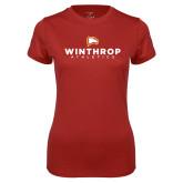 Ladies Syntrel Performance Cardinal Tee-Winthrop Athletics
