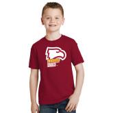 Youth Cardinal T Shirt-Winthrop Eagles w/ Eagle Head