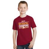Youth Cardinal T Shirt-2017 Mens Basketball Champions Stacked
