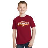 Youth Cardinal T Shirt-2017 Mens Basketball Champions Repeating