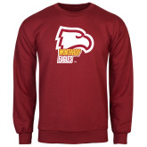 Cardinal Fleece Crew-Winthrop Eagles w/ Eagle Head
