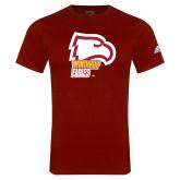 Adidas Cardinal Logo T Shirt-Winthrop Eagles w/ Eagle Head