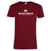 Ladies Cardinal T Shirt-Lacrosse