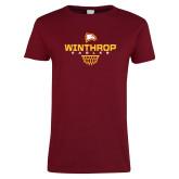 Ladies Cardinal T Shirt-Sharp Net Basketball
