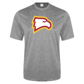 Performance Grey Heather Contender Tee-Eagle Head