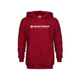 Youth Cardinal Fleece Hoodie-Winthrop Athletics Flat