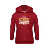Youth Cardinal Fleece Hoodie-2017 Mens Basketball Champions Stacked