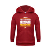 Youth Cardinal Fleece Hoodie-2017 Mens Basketball Champions Repeating