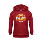 Youth Cardinal Fleece Hoodie-2017 Mens Basketball Champions Basketball