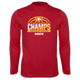 Performance Cardinal Longsleeve Shirt-2017 Mens Basketball Champions Basketball