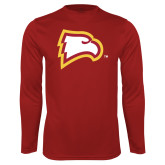 Performance Cardinal Longsleeve Shirt-Eagle Head