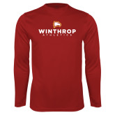 Performance Cardinal Longsleeve Shirt-Winthrop Athletics