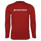 Performance Cardinal Longsleeve Shirt-Winthrop Athletics Flat