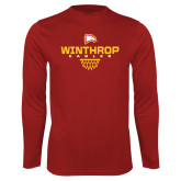 Performance Cardinal Longsleeve Shirt-Sharp Net Basketball