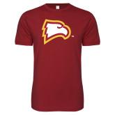 Next Level SoftStyle Cardinal T Shirt-Eagle Head