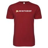 Next Level SoftStyle Cardinal T Shirt-Primary Mark Flat