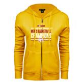 ENZA Ladies Gold Fleece Full Zip Hoodie-2017 Mens Basketball Champions Stacked