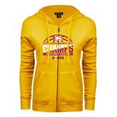 ENZA Ladies Gold Fleece Full Zip Hoodie-2017 Mens Basketball Champions Basketball