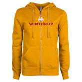 ENZA Ladies Gold Fleece Full Zip Hoodie-Primary Mark