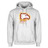 White Fleece Hoodie-Winthrop Eagles w/ Eagle Head