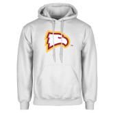 White Fleece Hoodie-Eagle Head