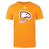 Adidas Gold Logo T Shirt-Winthrop Eagles w/ Eagle Head