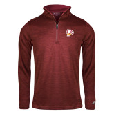 Russell Cardinal Heather 1/4 Zip-Winthrop Eagles w/ Eagle Head