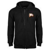 Black Fleece Full Zip Hoodie-Eagle Head